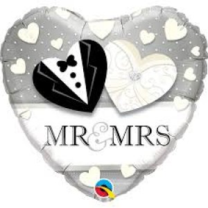 Foil Balloon Mr & Mrs