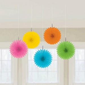 Paper Party Fans - 5 pack, Multi