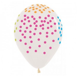 Balloon Single Neon Confetti