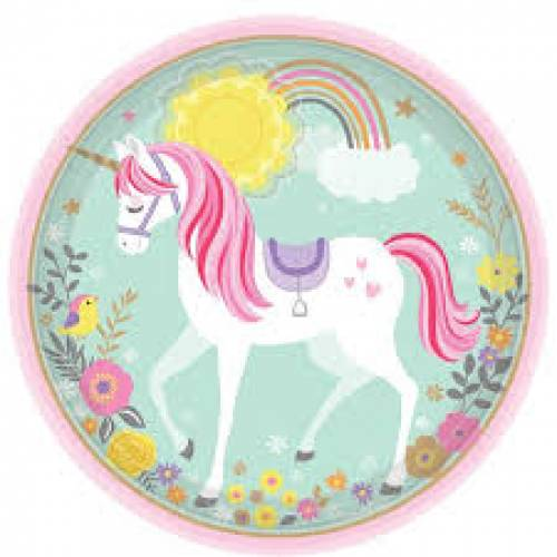 Unicorn Plates 8pk