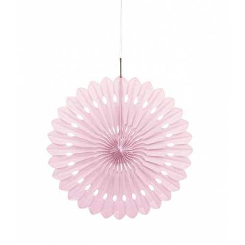Tissue Paper Fan Pale Pink - 40cm
