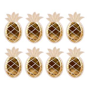 Gold Pineapple Plates 8pk
