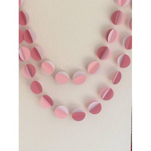 Pink Circle Garland - Pack of 2
