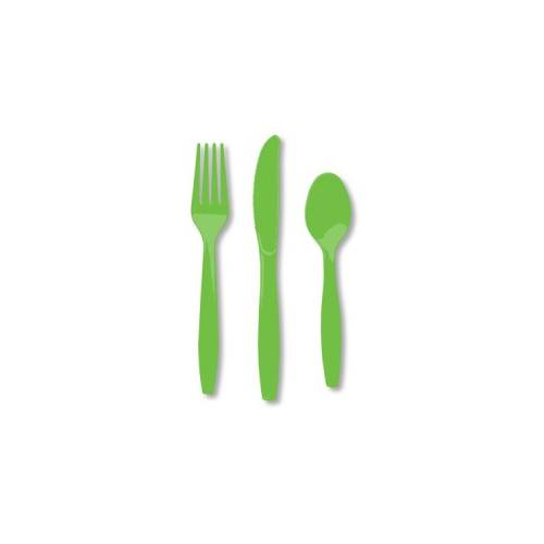 Plastic Knives 25pk - Lime