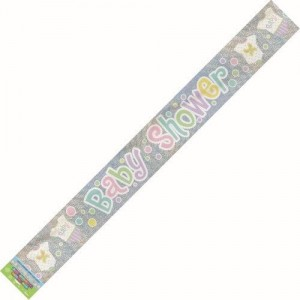 Polka Dots Baby Shower Banner 2.7m