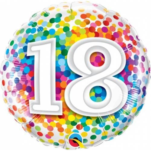 Foil Balloons 18th Birthday Foil Balloon