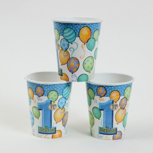 1st Birthday Party Supplies Cups, Blue