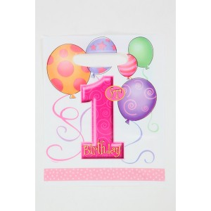 1st Birthday Party Supplies Lootbags, Pink
