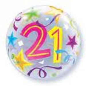 21st Birthday Party Supplies Bubble Balloons