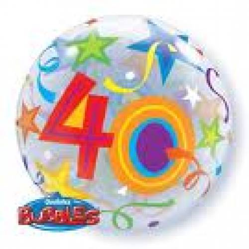 40th Birthday Party Supplies Bubble Balloons
