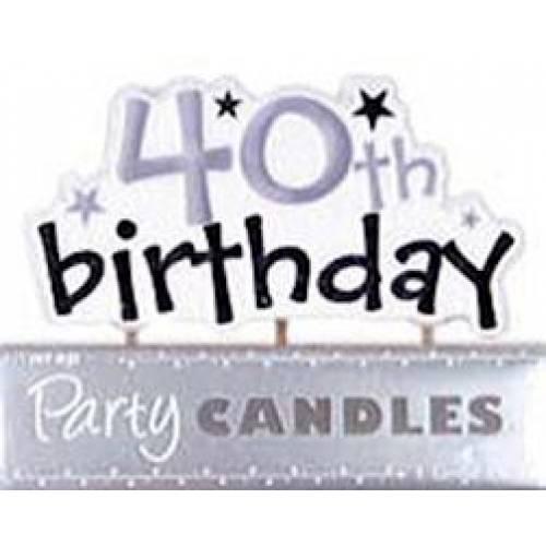 Birthday Candles 40th Birthday