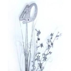 Foil Spangles 40th Silver