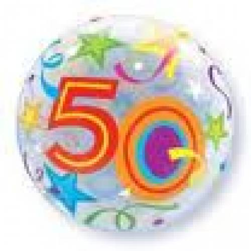 50th Birthday Party Supplies Bubble Balloons