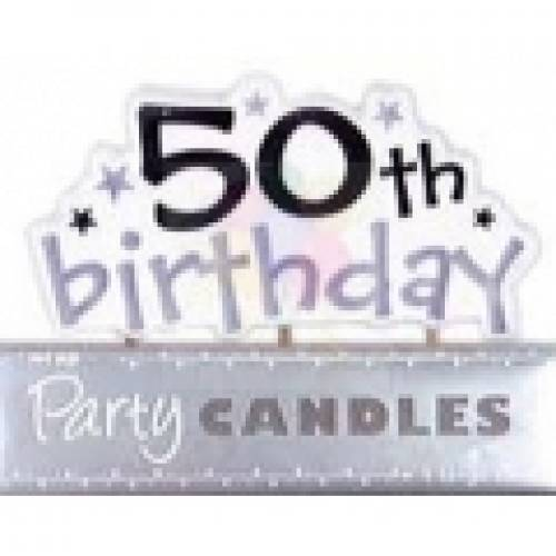50th Birthday Supplies 50th Candles
