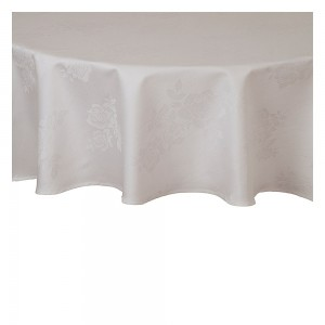 Linen Table Cloth, Round 3.0m White