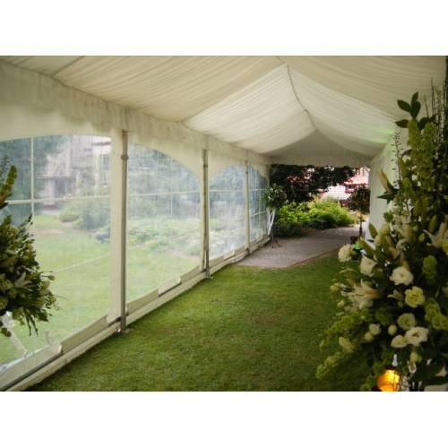 Entrance Marquee 3m x 3m - Silk Lined