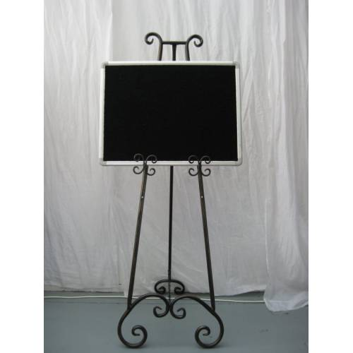 Easel - Wrought Iron 1.7m & Small Board