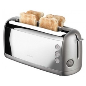 Toaster 4 Slice, Stainless Steel