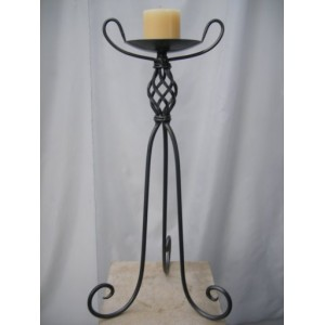 Candelabra 66cm, 1 Candle, Charcoal