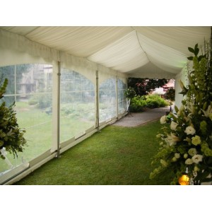Entrance Marquee 3m x 9m - Silk Lined