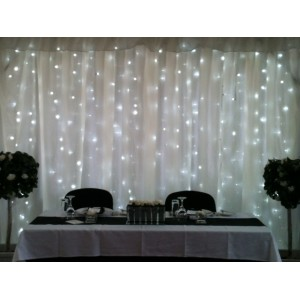 Fairy Light Curtain + Stand & Fabric 2.8m