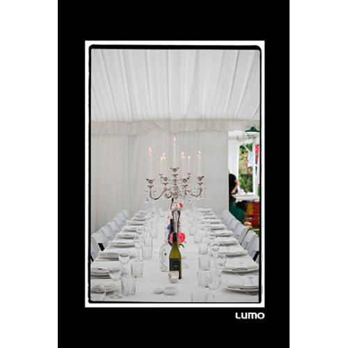 Rectangle Table Setting In White