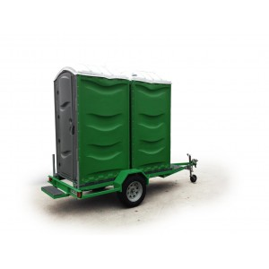 Toilet, 2 x Flushable on Trailer