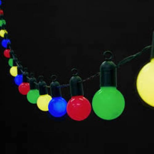 Festoon Lights 22m Coloured