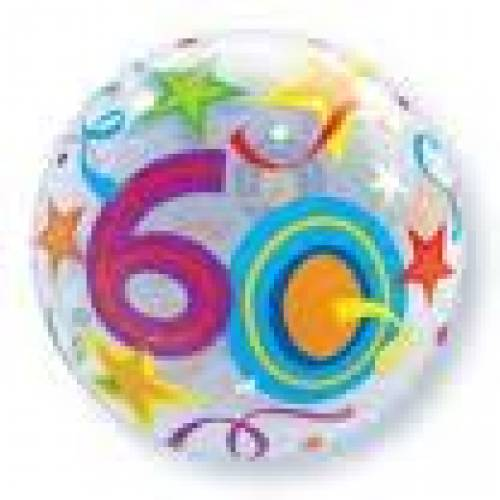 60th Birthday Party Supplies Bubble Balloons