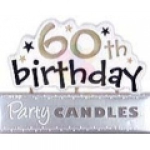 60th Birthday Supplies 60th Candles