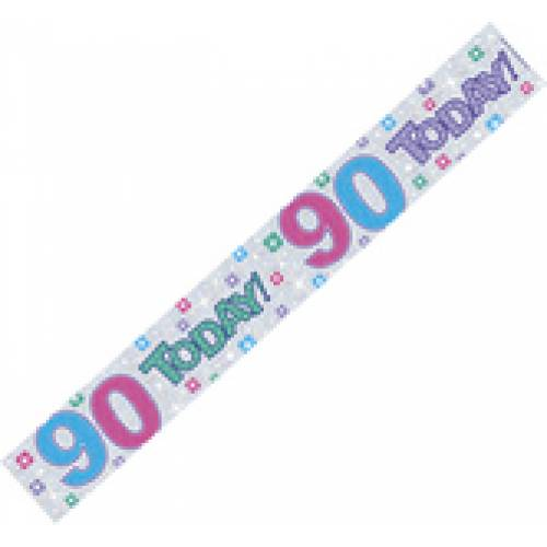 Banner 90 Today Holographic