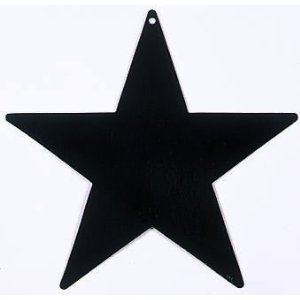 Awards Night Black Foil Star