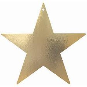 Awards Night Gold Foil Star