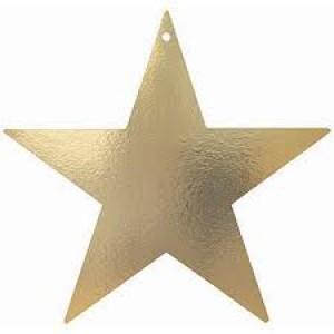 Awards Night Gold Foil Star