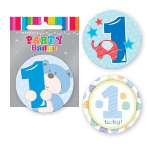 Badge 1st Birthday Boy