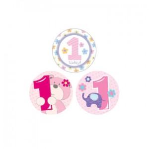 Badge 1st Birthday Girl