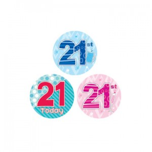 Badge 21st Birthday