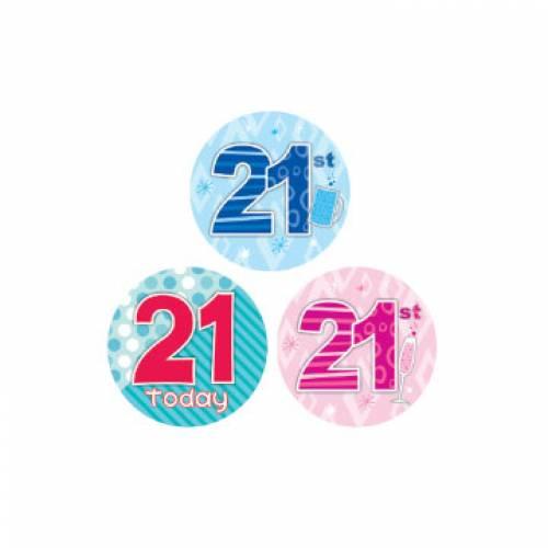 Badge 21st Birthday