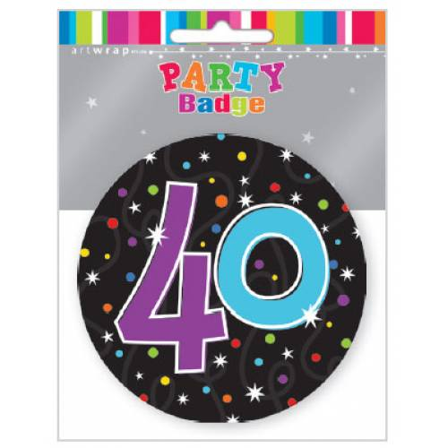 Badge 40th Birthday Party