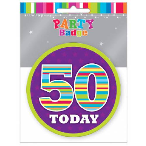 Badge Large 50th Birthday