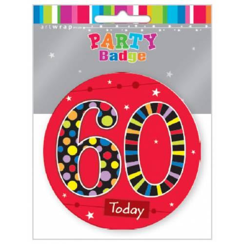 Badge Large 60th Birthday