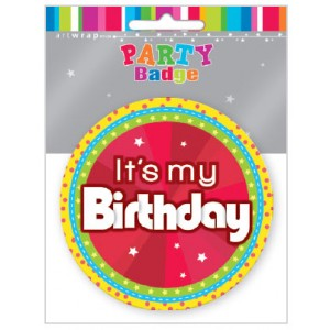 Badge Large Birthday