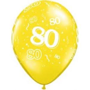 Balloons 80th Birthday Balloon