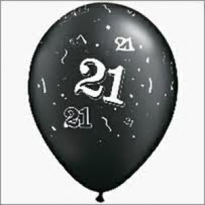 Balloons Black 21st Birthday Balloon