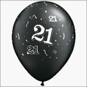 Balloons Black 21st Birthday Balloon