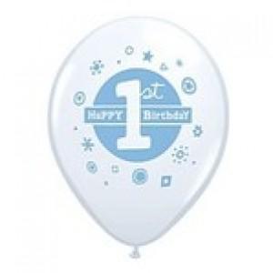 Balloons Blue 1st Birthday Balloon