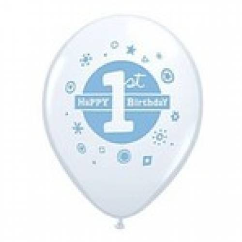 Balloons Blue 1st Birthday Balloon