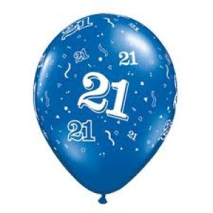 Balloons Blue 21st Birthday Balloon