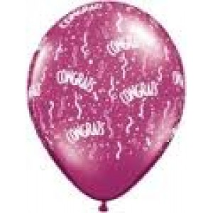 Balloon Single Congrats Streamers Assorted