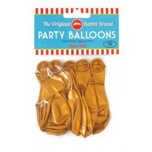 Party Balloons 10pk Gold 10